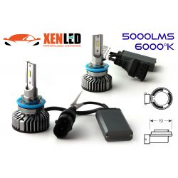 H11 LED Ventilated FF2 - 5000Lms - 6000 ° K - Mini Size