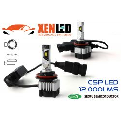 2x LED H11 Xtrem6 - Ventola remota - 60W - 12 000Lms - 6000K