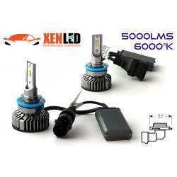 Kit 2 AMPOULES HB4 9006 LED Ventilées FF2 - 5000Lms - 6000°K - Taille Mini