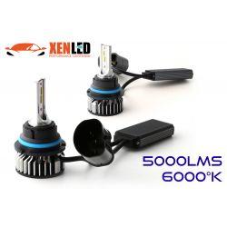HB5 9007 bi-LED ventilato FF2 - 5000/6000Lms - 6000 ° K - Mini Size