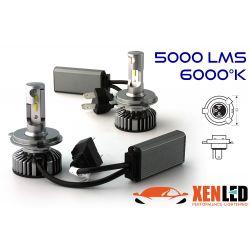 Kit AMPOULES H4 bi-LED Ventilées FF2 - 5000/6000Lms - 6000°K - Taille Mini