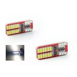 2 x BULBS 24 LEDS (3014) CANBUS - T10 W5W