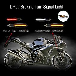 Flashing + LED Daytime Running Lights Moto Sequential NightX V3.0