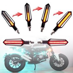 Flashing + Brake LED Lights Moto Sequential NightX V3.0