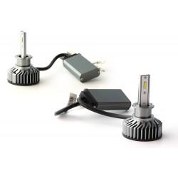 Kit AMPOULES H1 LED Ventilées FF2 - 5000Lms - 6000°K - Taille Mini