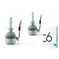 Bulbs 2 x h1 disaggregated C6F 36w - 3800lm - 6000k - 12/24 vdc