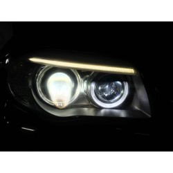 Pack Angel Eyes H8 V-Type 6W LED BMW E70 / E71 / E60 / E61 / E63 / E64 / E87 / E92 / E93  - NEUF - type H8 - Garantie 2 ans
