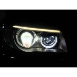 Packen Sie Angel Eyes H8 V-Type 6W LED BMW E70 / E71 / E60 / E61 / E63 / E64 / E87 / E92 / E93 - neu - Typ H8 - 2 Jahre Garantie