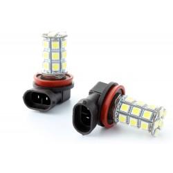 2 x H1 25 LED SMD LED bulbs