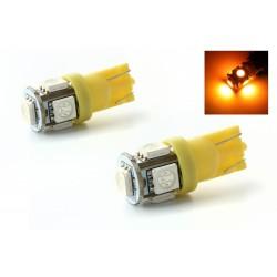 2 x LED lamps 5 orange - SMD LED - 5 Led T10 W5W