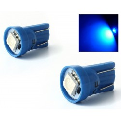 X 2 lamps 1 SMD LED blue - t10 W5W
