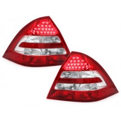 LED taillights Mercedes Benz C W203 00-05_red/crystal