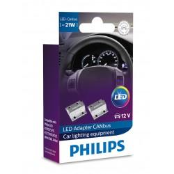PHILIPS LED Canbus 21W 12V Avvertenza annullatore di resistenze errore annullatore di 18957X2