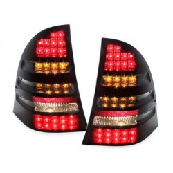LED taillights Mercedes Benz C W203 00-12/04_red/smoke