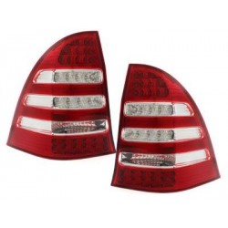 LED taillights Mercedes Benz C W203 00-12/04_red/crystal
