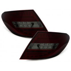 LED taillights Mercedes Benz C W204 07 _ red/smoke