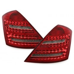 LED taillights Mercedes Benz S W221 Limousine_red/crystal