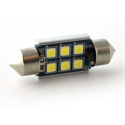 1 x BULB C10W 6-LED Super Canbus 450Lms XENLED - GOLD