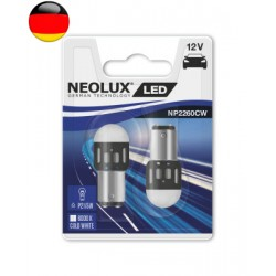 2x P21/5W LED 6000K NEOLUX NP2260CW-02B 38,2mm BAY15d