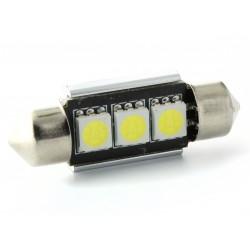 Lampada Led a Siluro Canbus C5W C7W - 37 mm 3 SMD Luci  targa con dissipatore - No Errore