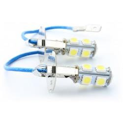 2 x h3 bulbs SMD LED 9