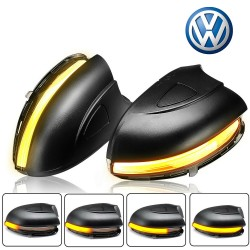 Smoked Blink Side Mirror Dynamic LED GOLF VI - coming home cutting lines