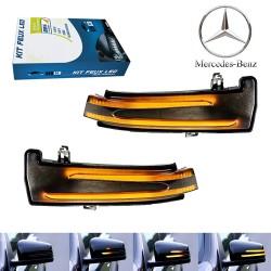 Répétiteurs Rétro LED Dynamique Défilant Mercedes Classe A, CLA, C, B, E, CL, CLS, GLK, GL, ML, S