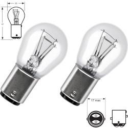 2 x Ampoules BA15D  21/5W 12V  Standard BA15D