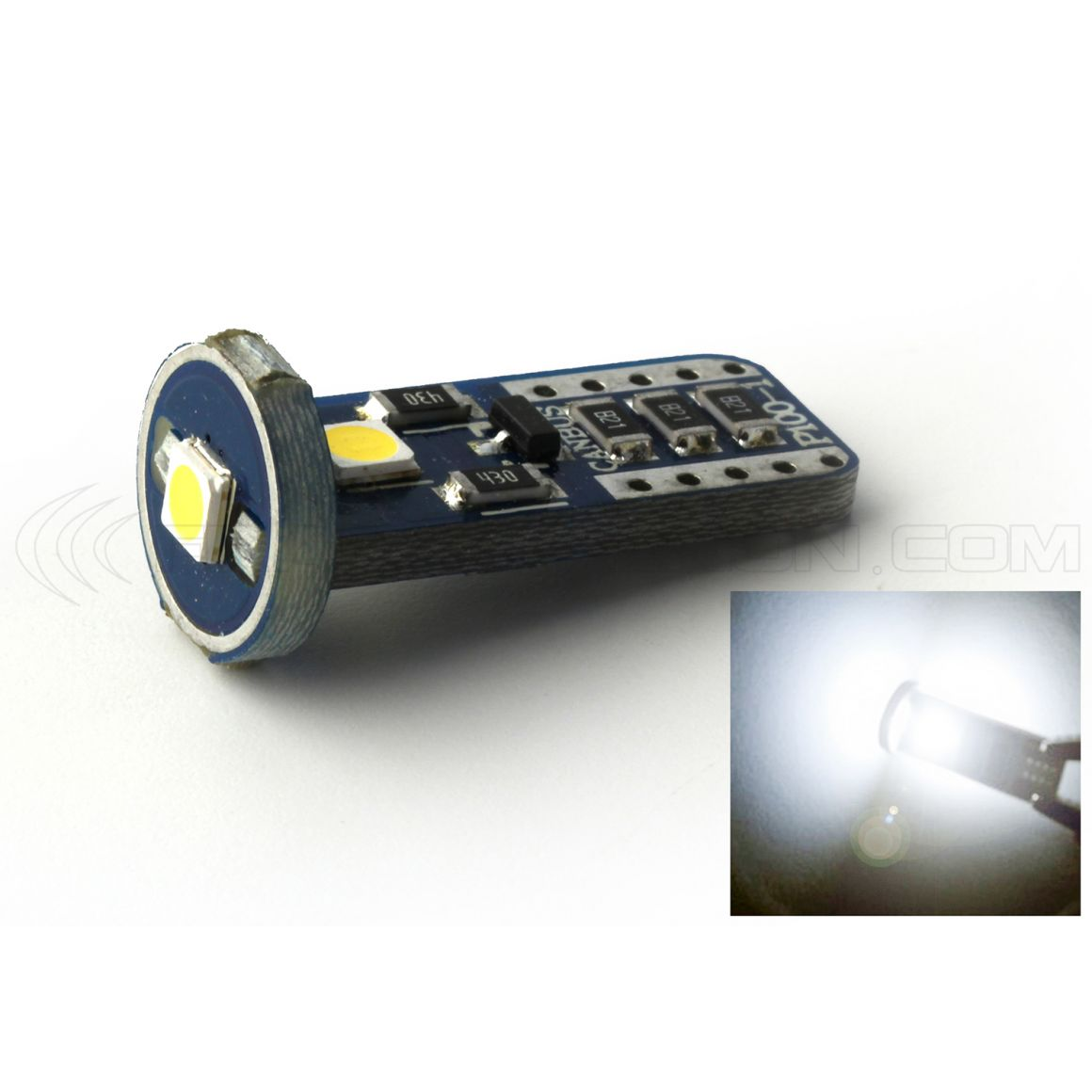 BULB 3 LEDS SMD CANBUS WHITE - T10 W5W