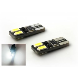 2 x BULBS 4 LEDS SMD CANBUS - T10 W5W