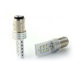 2 x 12 LED bulbs ss hp - p21 / 5w - White