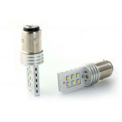 2 x Ampoules 12 LED SS HP - P21/5W - Blanc