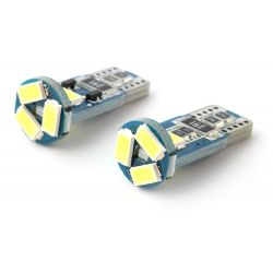 2 x AMPOULES 5 LEDS (5730) CANBUS SAMSUNG - T10 W5W