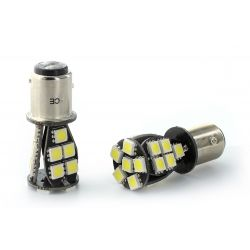 2 X Birnen CANBUS 21 LED SMD - BAY15D / P21/5W / 1157 / T25 - weiß