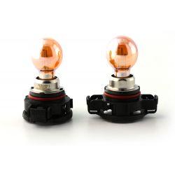 2 x Bulbs PSY24W Chrome Amber 24W 12V