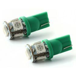 2 x T10 W5W 24V - 5 LEDS SMD BLUE