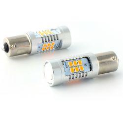 2x LED-Lampen 21 osram - PY21W - gelb