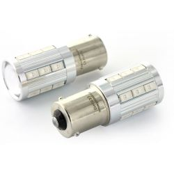 2x lampadine LED 21 sg - PY21W - giallo
