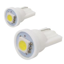 2x Ampoules T10 W5W 1SMD BLANC PURE