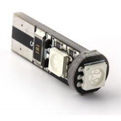 AMPOULE 3 LEDS SMD CANBUS ORANGE - T10 W5W