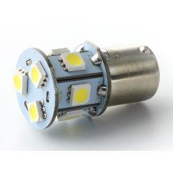 Lampadina 8 LED SMD - BA15S / P21W / 1156 / T25 - Bianco