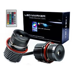 Colors changing RGB LED marker E39 E57 E60 E81 angel eye 30w canbus for bmw E60 E61 E63 E64 E87 X3 E39 E53 E65 E66