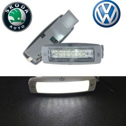 Pack 2 modules plafonniers LED VAG Yeti / Fabia / Superb / Beetle / Caddy / Golf Plus / Passat / Touran