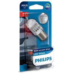 1x P21/5W Philips LED Vision RED 12836REDB1