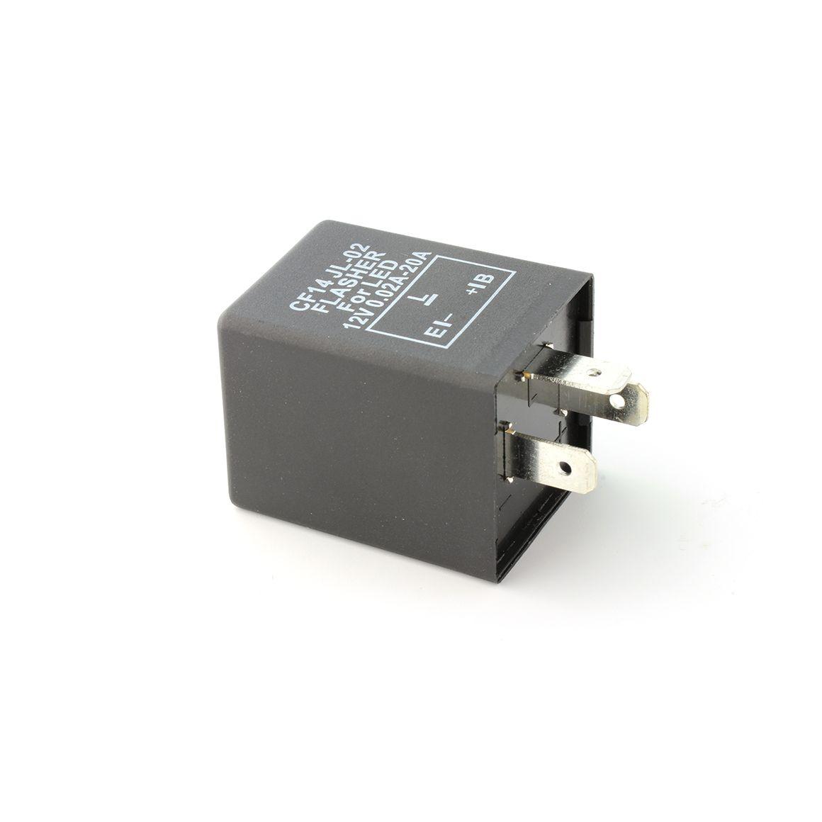 Rel/è Lampeggiante a LED CF13 JL-02 Rel/è Flasher Elettronico a 3 Pin per Lampadina a LED Indicatori di Direzione Hyper Flashing
