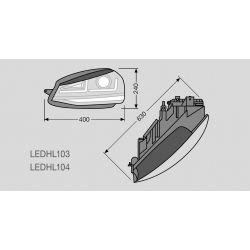 2x Headlights GTI Golf 7 OSRAM LEDriving LEDHL103-GTI for phase 1