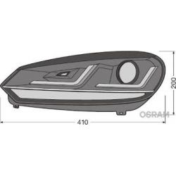 2x Fari GTI Golf 7 OSRAM LEDriving LEDHL103-GTI per fase 1