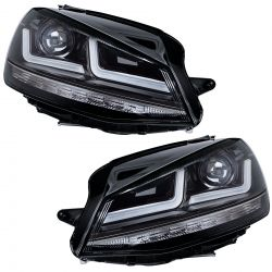 2x Headlight Noirs Golf 7 OSRAM LEDriving LEDHL103-BK MK1