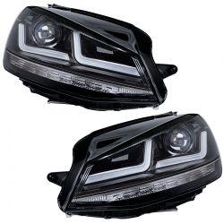 2x headlight Black Golf 7 OSRAM LEDriving LEDHL103-BK Mk1