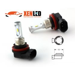 2 LED Bulbs H8 & H11 - 1600Lms - LED 1860 Fog lights & cornering lights